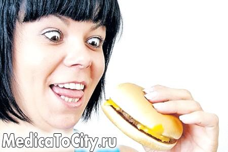 Фото - прийом жирної їжі