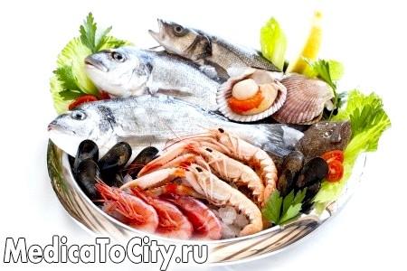 Фото - Риба, креветки, мідії